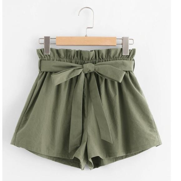 Vintage Pants - Vintage High Waste Clothe Shorts